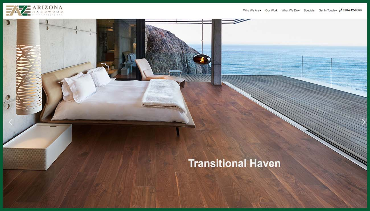 Website Redesign for Arizona Hardwood Floor Supply in Phoenix AZ