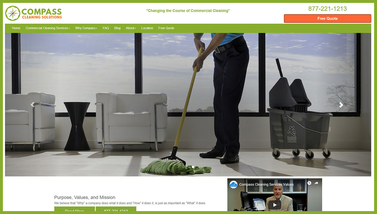 Compass Cleaning Solutions Website Redesign Project