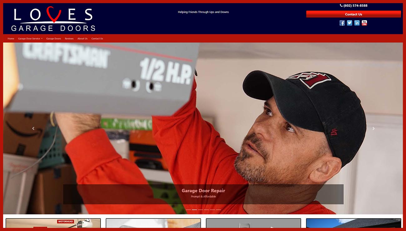 Loves Garage Door Repair in Phoenix AZ Website Redesign