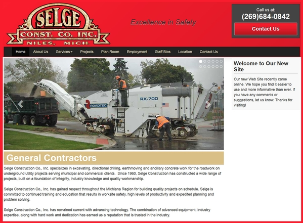 Selge Construction - Websites for Contractors