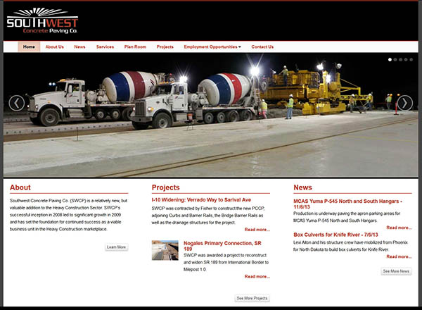 Best Web Designs for Paving Contractors